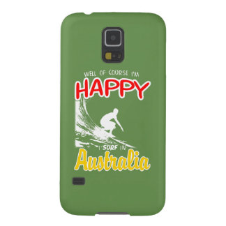 Surfer heureux AUSTRALIE (blanche) Protections Galaxy S5