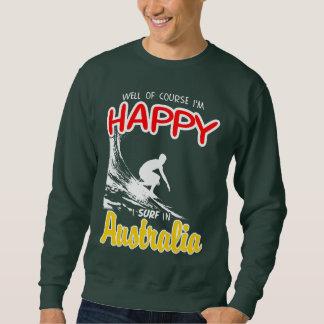 Surfer heureux AUSTRALIE (blanche) Sweatshirt