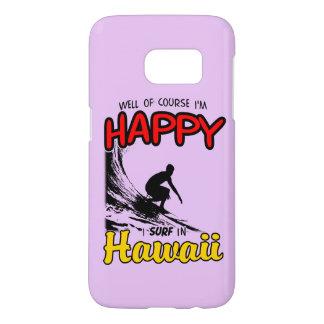 Surfer heureux HAWAÏ (noir) Coque Samsung Galaxy S7