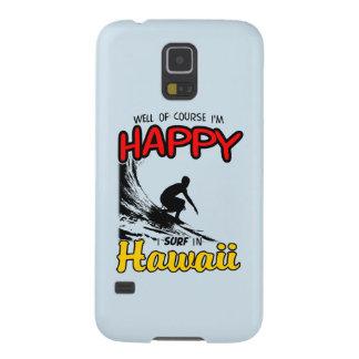 Surfer heureux HAWAÏ (noir) Coques Galaxy S5