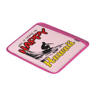 Surfer heureux HAWAÏ (noir) Poche Pour Macbook Air