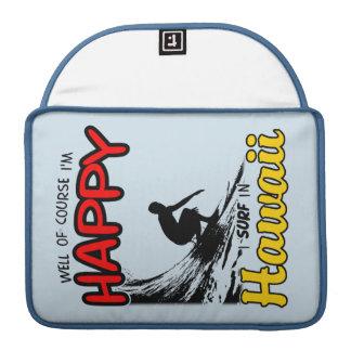 Surfer heureux HAWAÏ (noir) Poche Pour Macbook Pro
