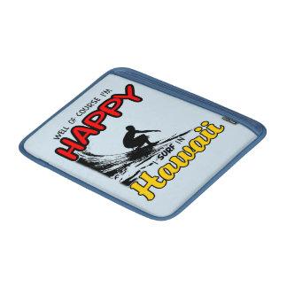 Surfer heureux HAWAÏ (noir) Poches Pour Macbook Air