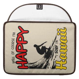 Surfer heureux HAWAÏ (noir) Poches Pour Macbook Pro