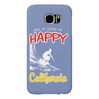 Surfer heureux la CALIFORNIE (blanche)