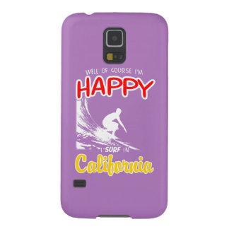 Surfer heureux la CALIFORNIE (blanche) Coque Galaxy S5