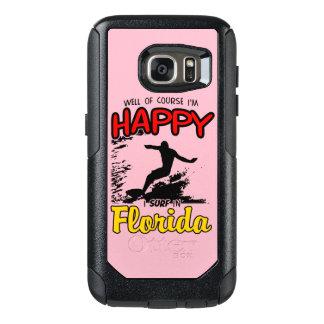 Surfer heureux la FLORIDE (noir) Coque OtterBox Samsung Galaxy S7