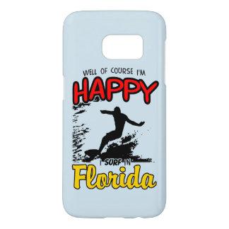 Surfer heureux la FLORIDE (noir) Coque Samsung Galaxy S7