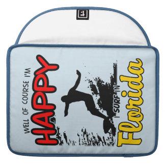 Surfer heureux la FLORIDE (noir) Housses MacBook Pro