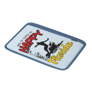 Surfer heureux la FLORIDE (noir) Poche Macbook Air