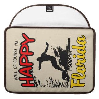 Surfer heureux la FLORIDE (noir) Poche Pour Macbook