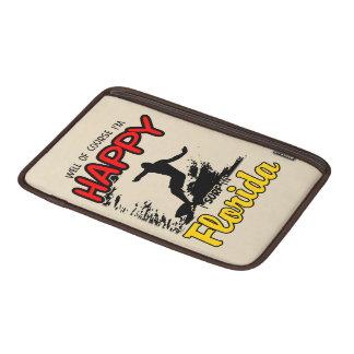 Surfer heureux la FLORIDE (noir) Poches Macbook Air