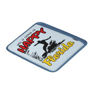 Surfer heureux la FLORIDE (noir) Poches Pour Macbook Air