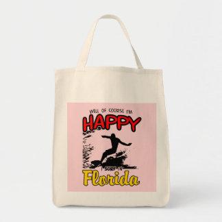 Surfer heureux la FLORIDE (noir) Sacs