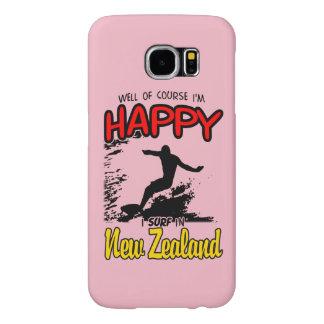 Surfer heureux NOUVELLE ZÉLANDE (noir)