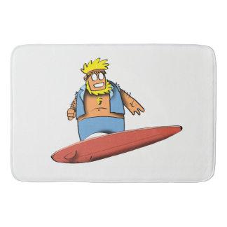 Surfer heureux tapis de bain