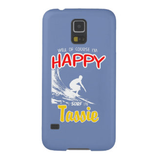Surfer heureux TASSIE (blanc) Protections Galaxy S5