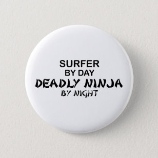 Surfer Ninja mortel par nuit Badge