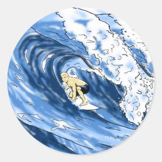 Surfer Sticker Rond