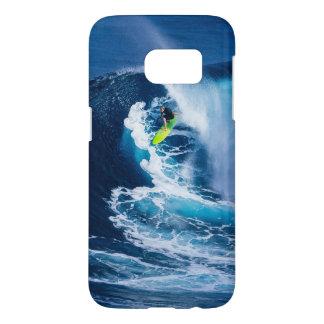 Surfer sur la planche de surf verte coque samsung galaxy s7