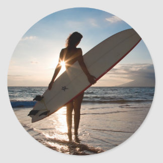 surfergirl.jpg autocollants ronds