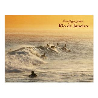 Surfers carte postale de Rio de Janeiro
