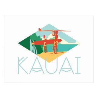 Surfers de Kauai Carte Postale