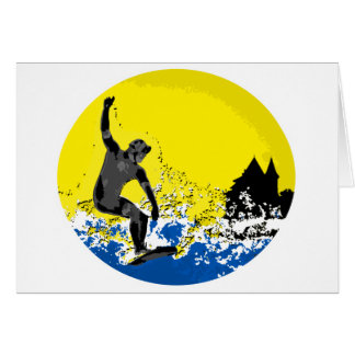 surfeur  basque de Biarritz en action Cartes De Vœux