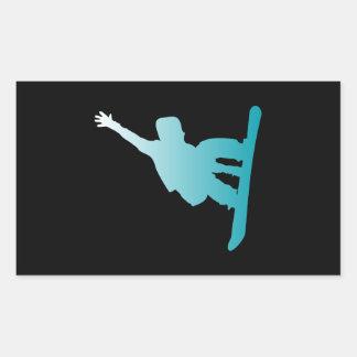 surfeur de bleu de gradient sticker rectangulaire