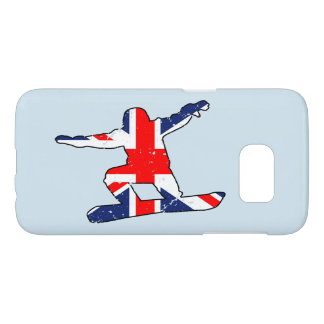 SURFEUR d'Union Jack (noir) Coque Samsung Galaxy S7