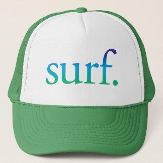 surfez le casquette tropical de plage de surf bleu