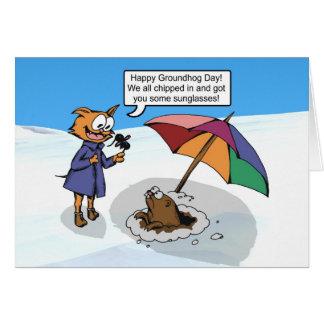 Surprise de Groundhog Cartes De Vœux