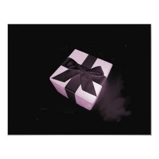 Surprise rose carton d'invitation 10,79 cm x 13,97 cm