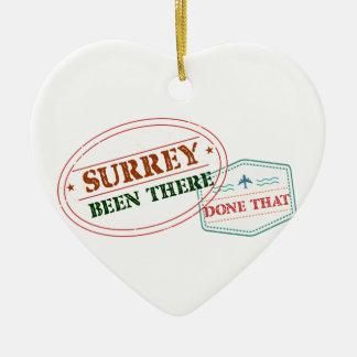 Surrey là fait cela ornement cœur en céramique