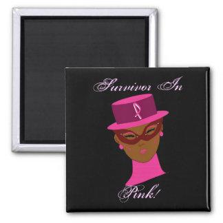 Survivant dans la conscience rose I de Cancer Magnets