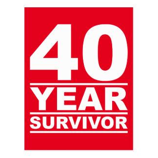 survivant de 40 ans carte postale