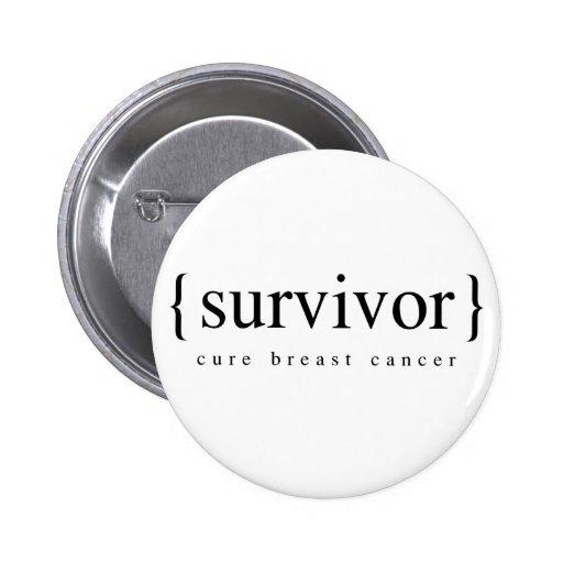 Survivant de cancer du sein badge