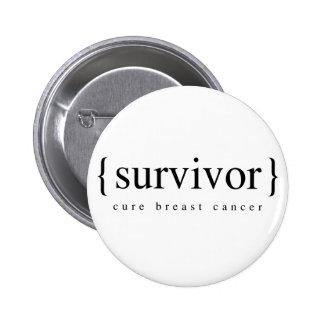 Survivant de cancer du sein badge rond 5 cm