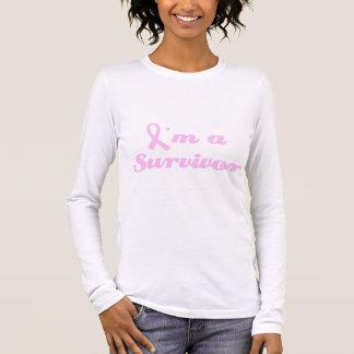 Survivant de cancer du sein t-shirt à manches longues