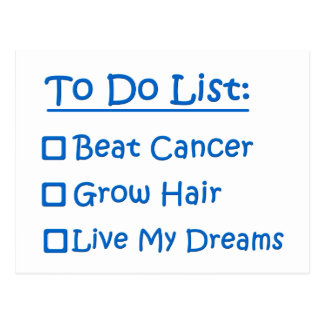 Survivant de Cancer pour faire la liste Carte Postale