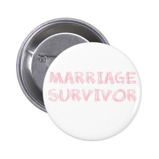 Survivant de mariage - 1 - rose badge