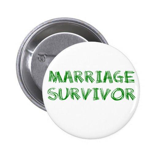Survivant de mariage - 1 - vert badge