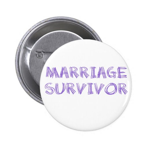 Survivant de mariage - 1 - violette badge avec épingle