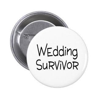 Survivant de mariage badge avec épingle