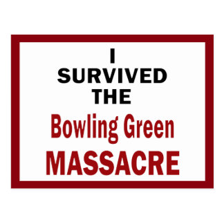 Survivant de massacre de Bowling Green Carte Postale