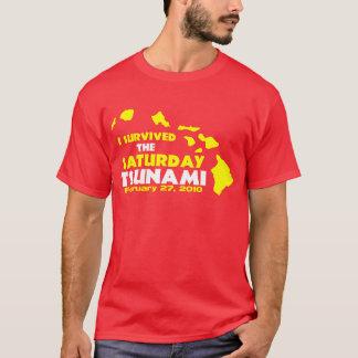 Survivant de tsunami de samedi t-shirt