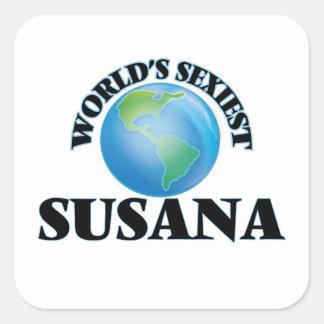 Susana la plus sexy du monde sticker carré