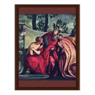 Susanna par Veronese Paolo (la meilleure qualité) Cartes Postales