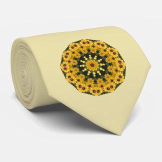 Susans Noir-eyed, mandala floral Cravate