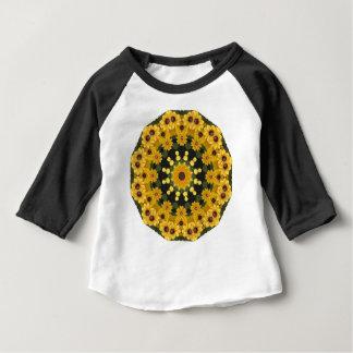 Susans Noir-eyed, mandala floral T-shirt Pour Bébé